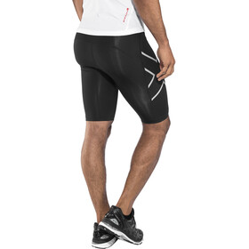 2XU Run Compressie Shorts Heren, black/silver reflective